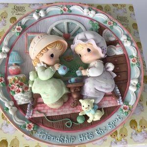 Precious Moments 3D decorative plate tea party